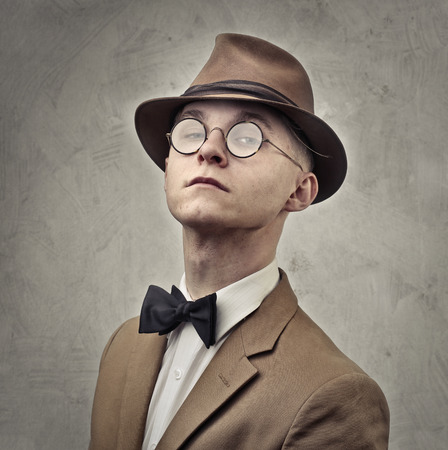 Elegant young man with vintage clothes Stok Fotoğraf - 94076389