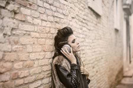 Listening to music outdoor