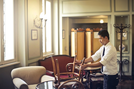 Manservant in a hotel