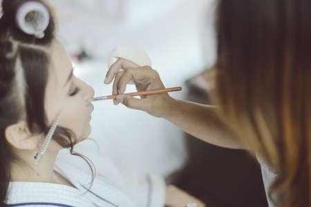 up: Make up before wedding reception