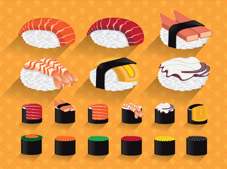 Japan Sushi illustration Illustration
