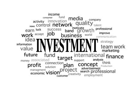 news values: business idea word cloud in isolated background design