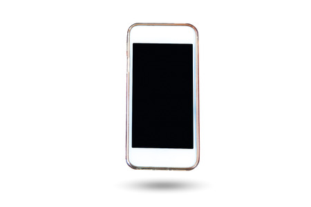 cellular telephone: Cell Phone and smart phone in isolated background   design