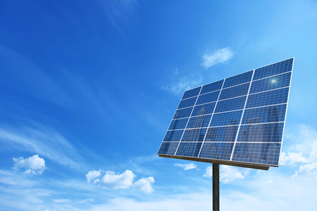 solar panels: Solar cell power energy grid system idea concept background design Stock Photo