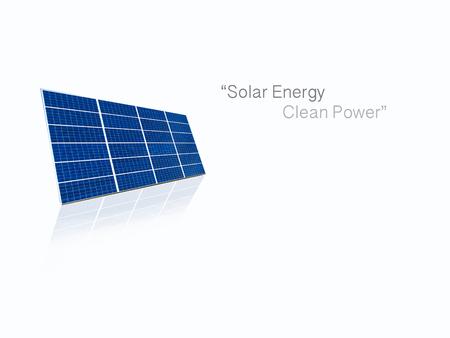 energy grid: Solar cell power energy grid system idea concept background design Stock Photo