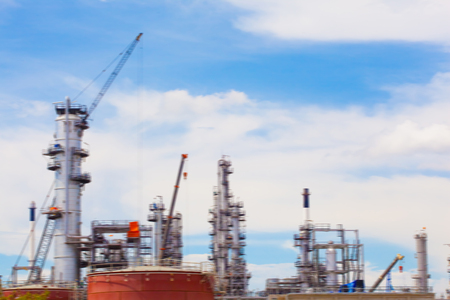 industry background: blurred oil and refinery factory industry for background design