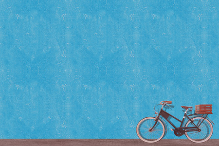 retro vintage old bicycle and wall background design