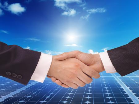Zonne-energie-energie idee concept achtergrond ontwerp Stockfoto