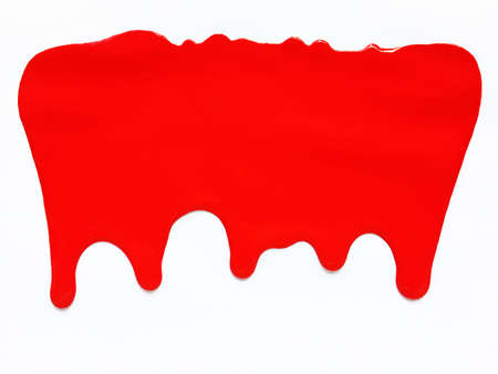 Red color dripping, Color Dropping Background. White background