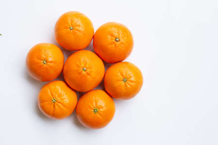 Mandarin Orange. White Background