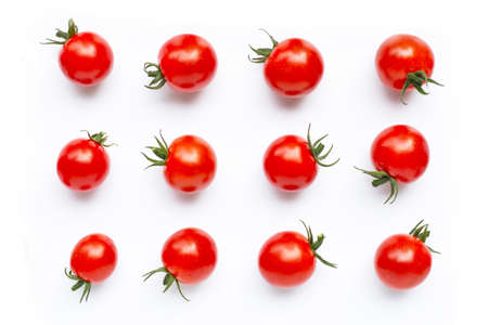 Fresh cherry tomatoes on white background. 写真素材