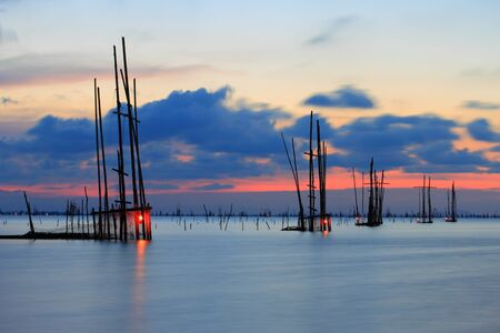southern thailand: crab trap,in southern thailand Stock Photo