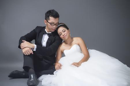 femme mari�e: mariage Banque d'images