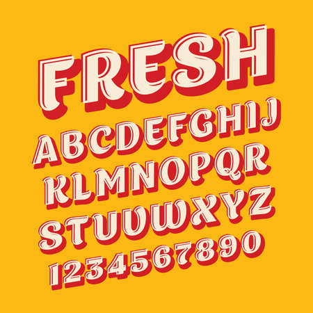 Fresh colors and mild letters of English alphabet in active font