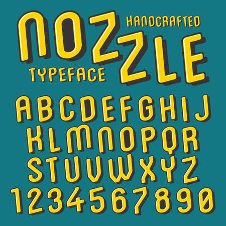 Vintage alphabet font design  handcrafted vector collection