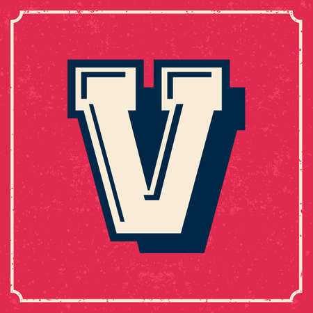 Letters vintage vector design stripes alphabet