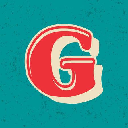 Letters vintage vector design bold English alphabet