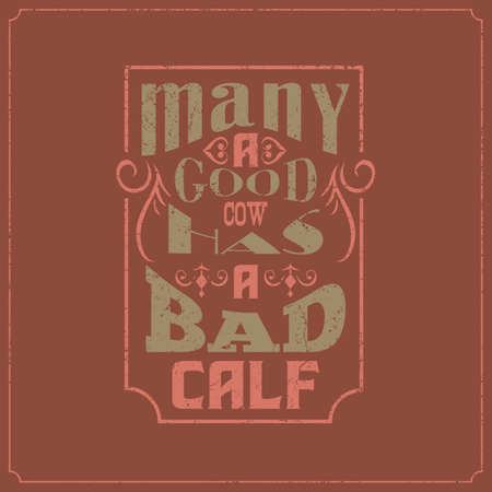 caligraphic vintage saying words