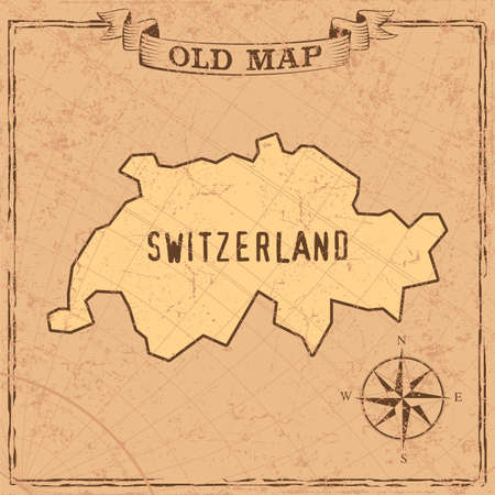 Maps of countries in vintage design