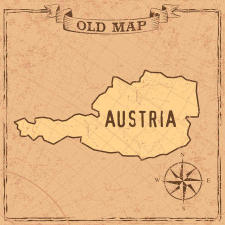 Maps of Austria in vintage design