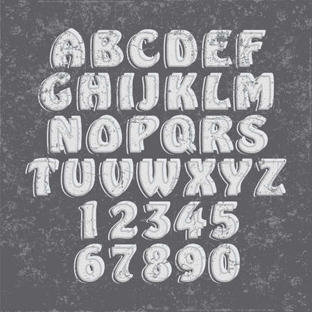 Handcrafted Vector Font Vintage and Modern Collection Ilustrace