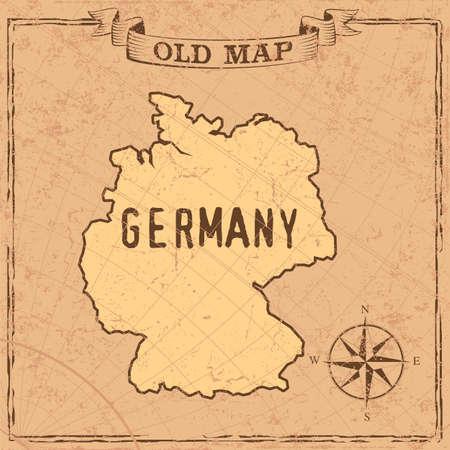 Maps of Germany in vintage design