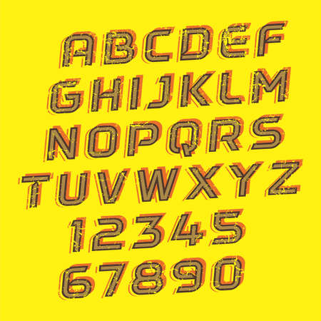 Handcrafted Vector Font Vintage and Modern Collection 矢量图像