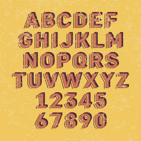 Handcrafted Vector Font Vintage and Modern Collection Illustration