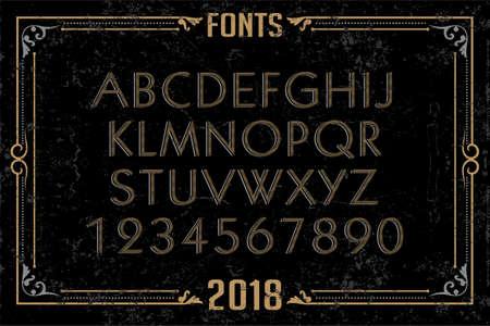 Font english alphabet designer idea Illustration