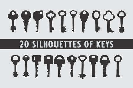 20 key shapes design different Illustration