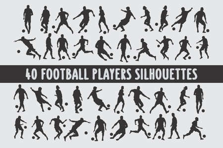 Soccer players set of 20 poses