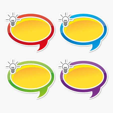 Colorful inspire speech bubbles