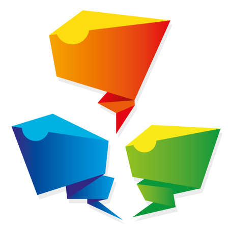 Abstract speech bubbles background Illustration
