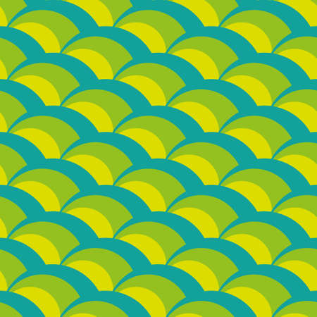 Seamless Green Wave Pattern