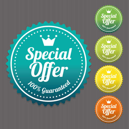 promotional offer: Special Offer Sticker and Tag Vintage and Gradient