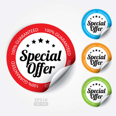 Special Offer Sticker and Tag. 向量圖像