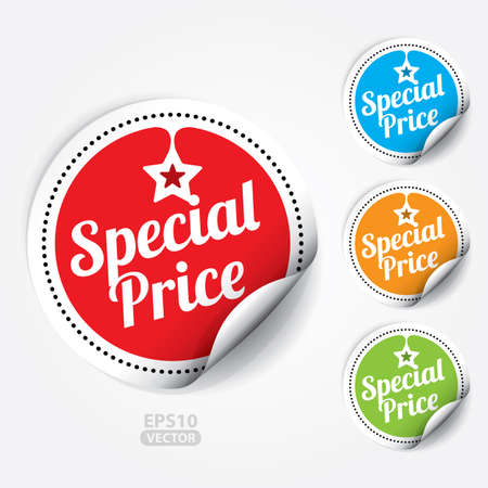 hot price: Special Price Sticker and Tag. Illustration