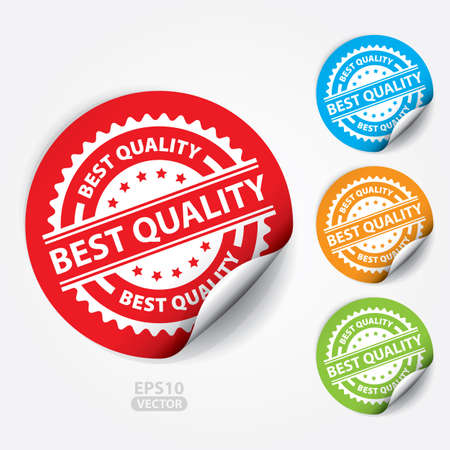 best quality: Best Quality Sticker and Tag. Illustration
