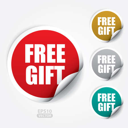 Free Gift ticker and Tag. 免版税图像 - 41930057