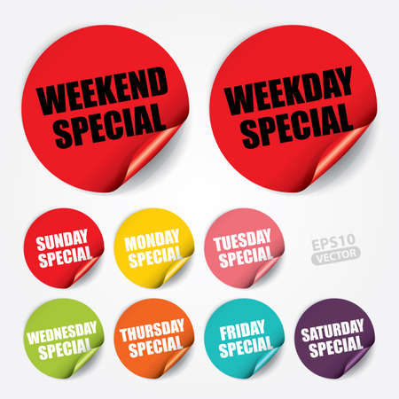 Weekend Special Weekday Specialon Sticker and Tag
