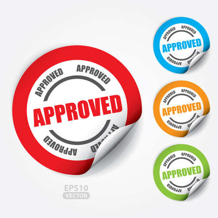 accepted: Approved Sticker and Tag.
