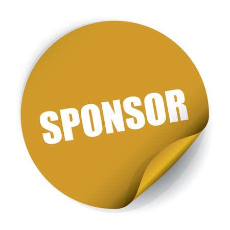 sponsorship: Sponsor Sticker and Tag. Stock Photo