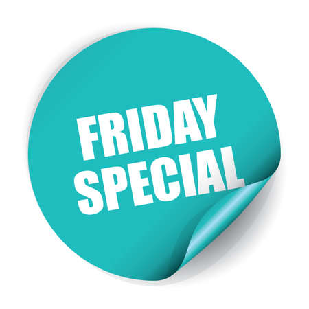 Friday Special Sticker and Tag. 版權商用圖片 - 41930485