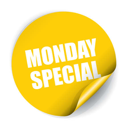 Monday Special Sticker and Tag 版權商用圖片 - 41930486
