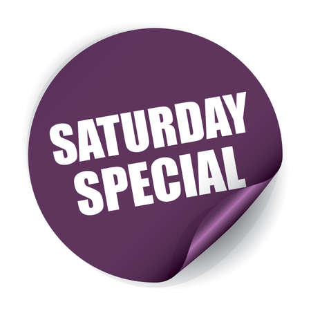 Saturday Special Sticker and Tag Stock Photo