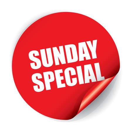Sunday Special Sticker and Tag