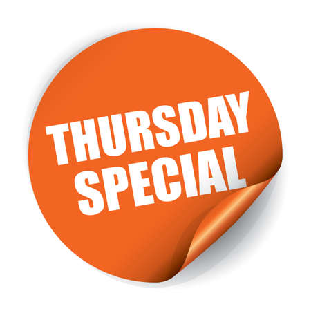 Thursday Special Sticker and Tag Stock Photo