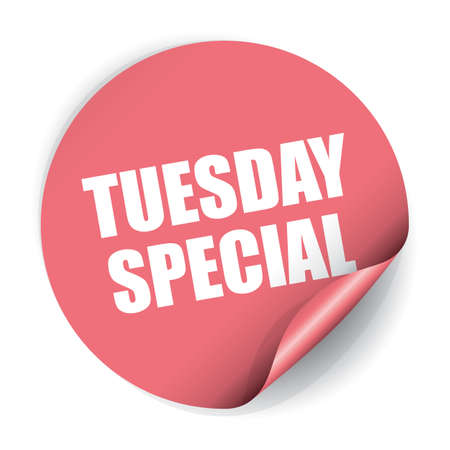 Tuesday Special Sticker and Tag Stock Photo