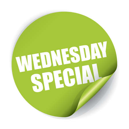 Wednesday Special Sticker and Tag Stock Photo
