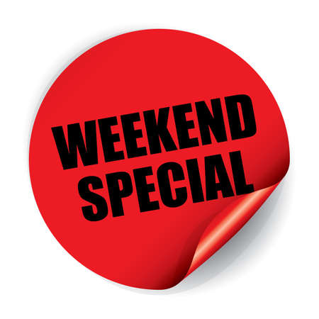 Weekend Special Sticker and Tag